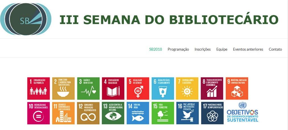 """III Semana do Bibliotecário: """"O papel das bibliotecas na Agenda 2030"""""""