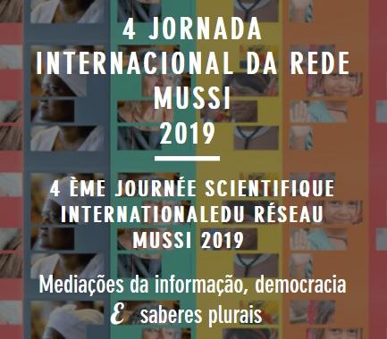 4ª JORNADA INTERNACIONAL DA REDE MUSSI 2019