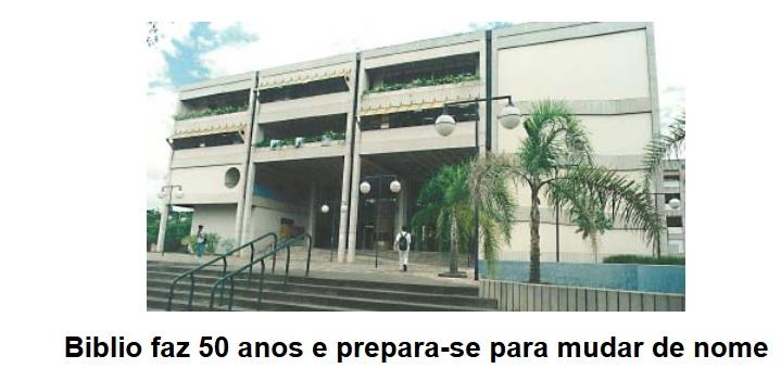Mudança do nome da Escola de Biblioteconomia para Escola de Ciência da Informação